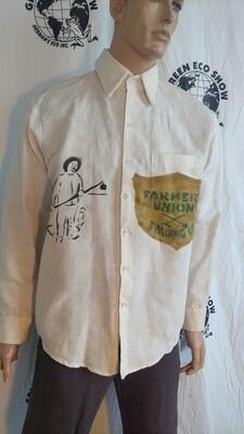Hermans Hemp XL farmer Cowboy dress shirt USA