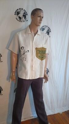 Hermans Hemp mens shirt Farmer bronco XL USA