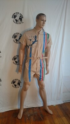 Mens organic cotton jumpsuit shark tiger med Hermans Eco