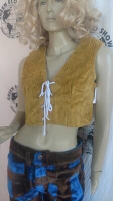 Renaissance vest M gold lace up Hermans Eco