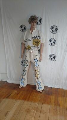 Gardening Pandas jeans 35 x 33 Airbrush USA