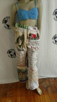 Calendar pants womens L Hermans houses