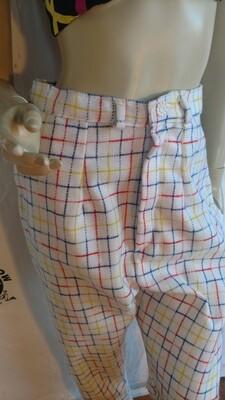 Womens wool plaid pants Med Hermans Eco