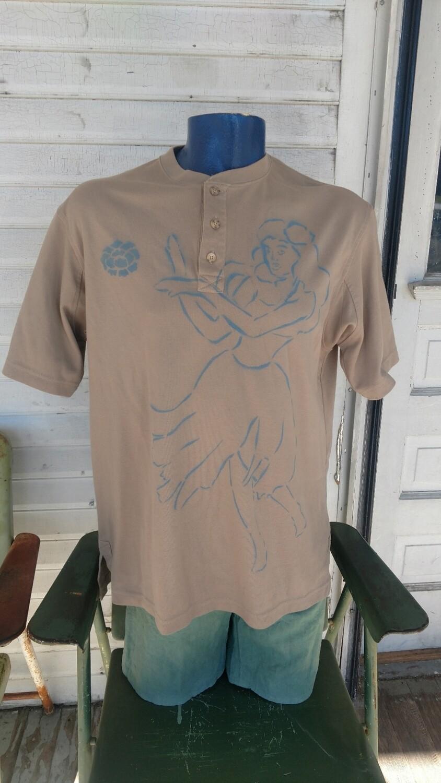 Hula Girl airbrush Large T shirt