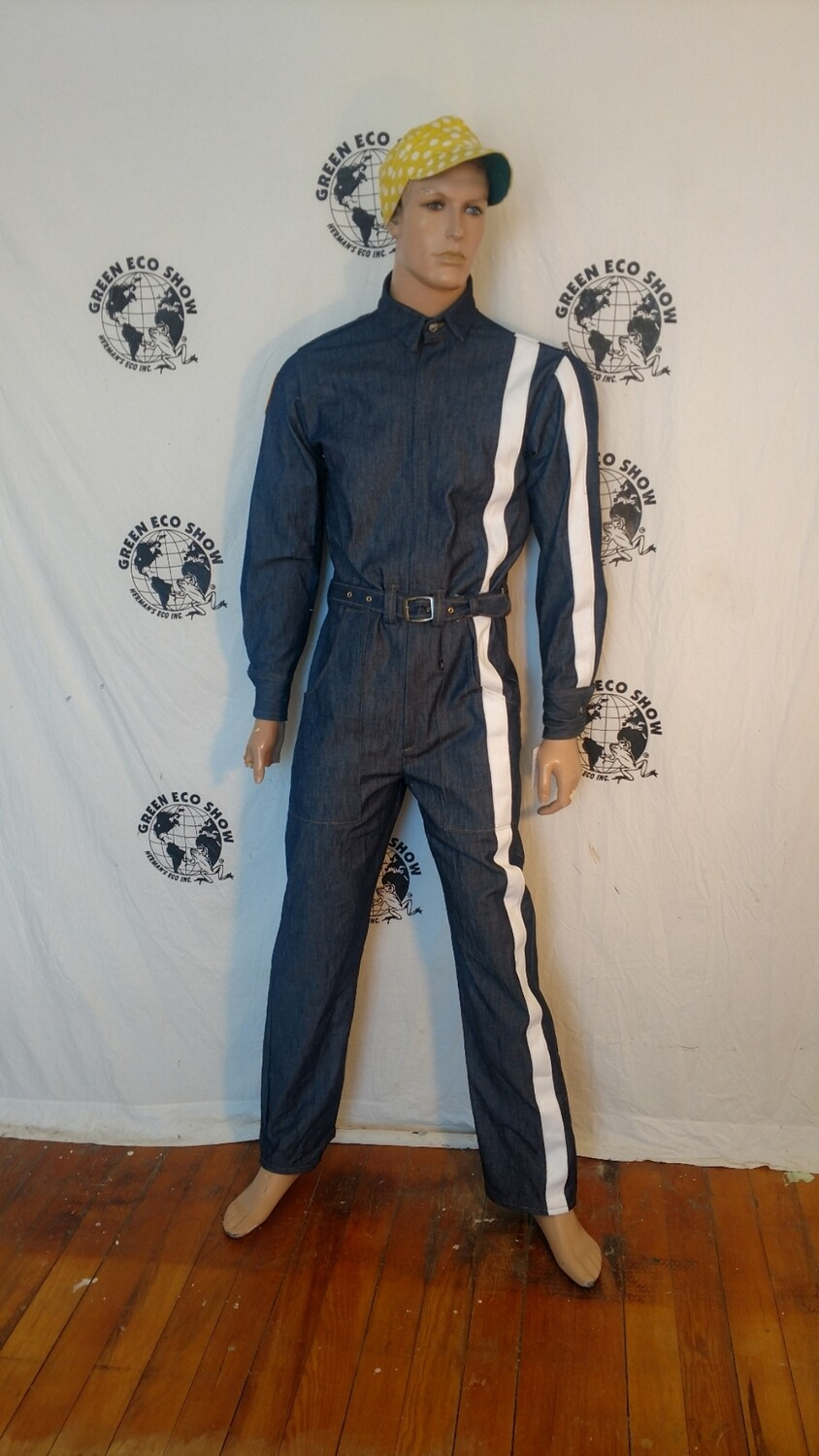 Mens denim jumpsuit Med Racing Germans Eco USA