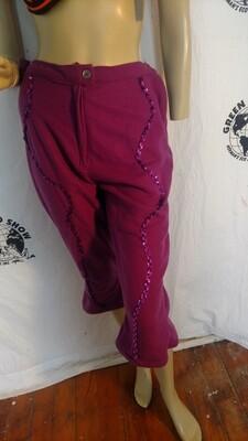 Sequin fleece capris pants Anna from Montana