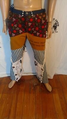 Patchwork Jeans aurbrushed L Hermans