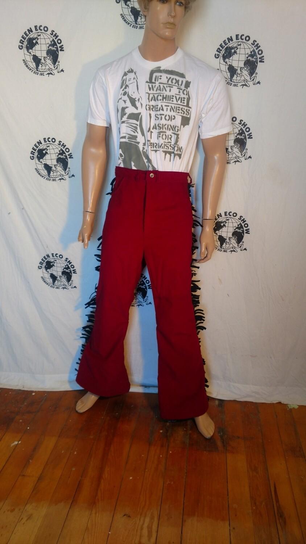 Corduroy fringed Bells bottom jeans 32 X 31 Hermans