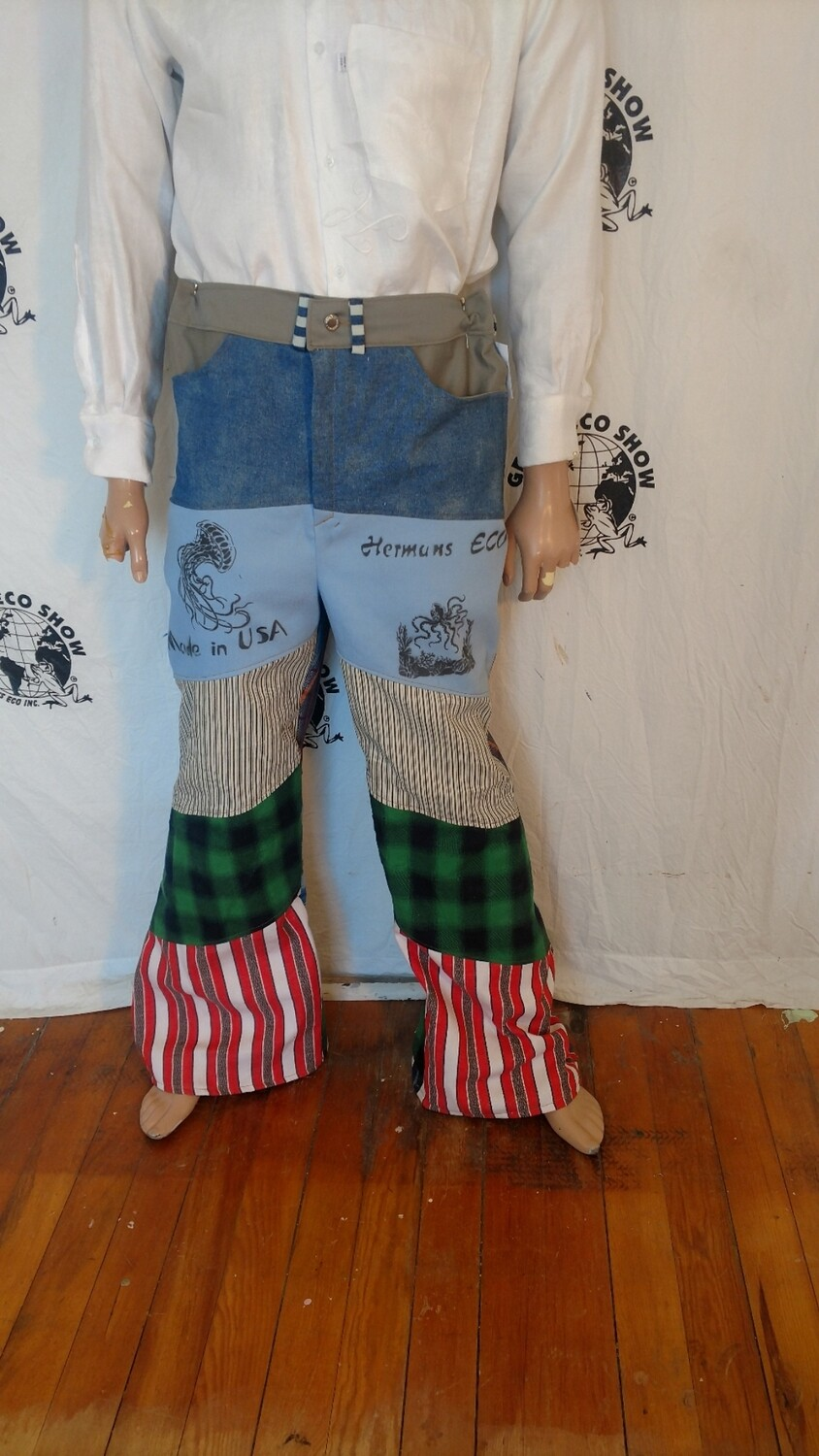 Mens Patchwork Jeans 36 Hermans Eco USA