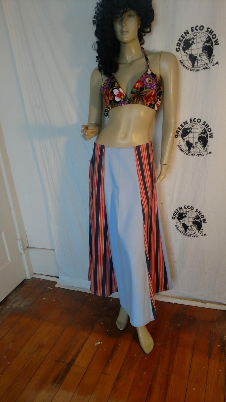 Denim patchwork skirt w 30 med Hermans USA