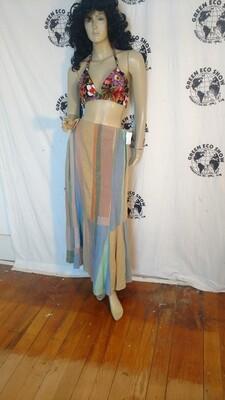 Patchwork skirt Hermans Hemp L 34 USA