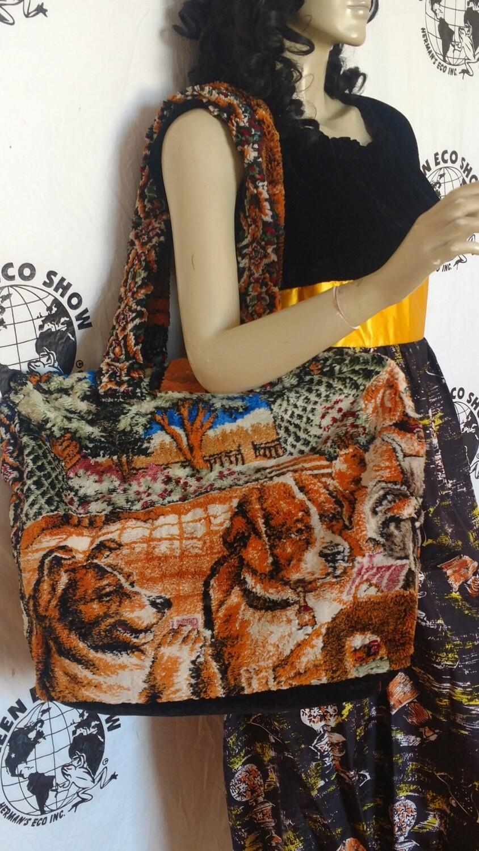 Poker Dogs Carpet Bag Hermans Eco USA
