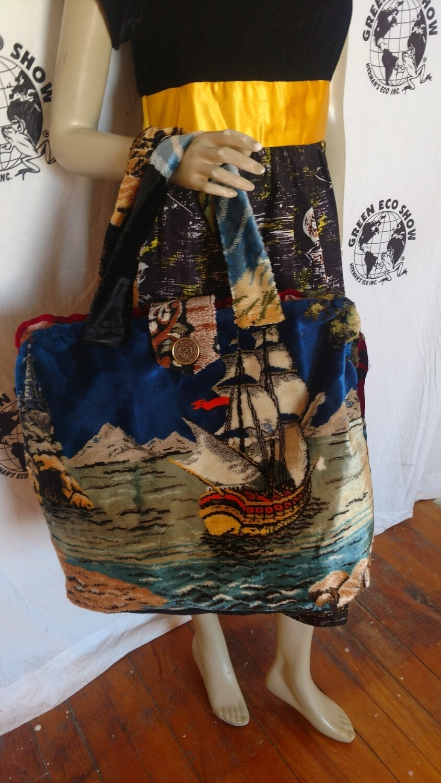 Pirate ships Carpet bag suitcase Hermans Eco