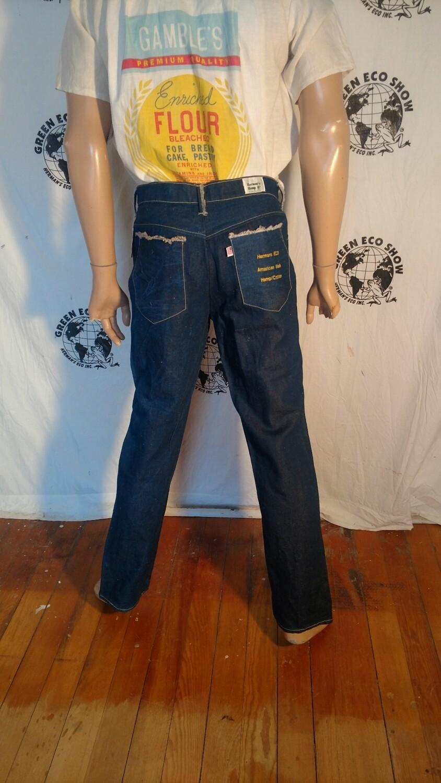 Hermans Hemp cotton Jeans 34 x 32 indigo