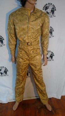 Gold Lamee Mens Jumpsuit M to L Hermans Eco