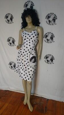 Pokadot dress Black woman S Hermans Eco USA