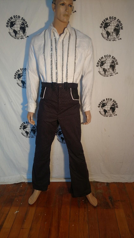 Mens western pants cowboy pokadot Hermans Eco USA