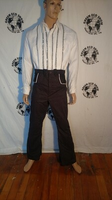 Mens western pants cowboy pokadot Hermans Eco USA