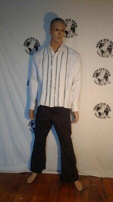 Mens tuxcedo sequin shirt Hermans Eco USA