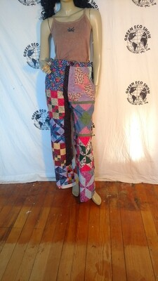 Womens Patchwork pants bells M USA