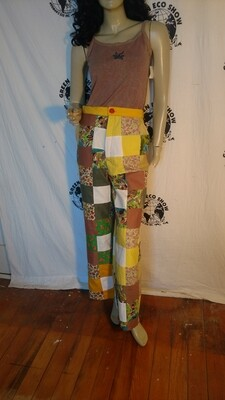 Patchwork bells high waisted pants M Hermans USA
