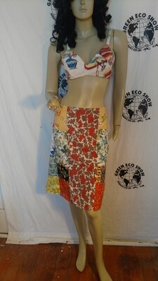 Patchwork Skirt M Anna Herman 28 W