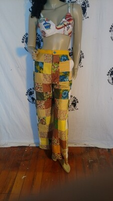 Womens patchwork pants bells Hermans USA
