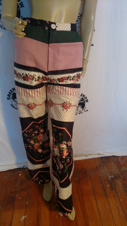Womens Patchwork pants bells Hermans