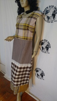 Patchwork Dress Med Anna Herman check