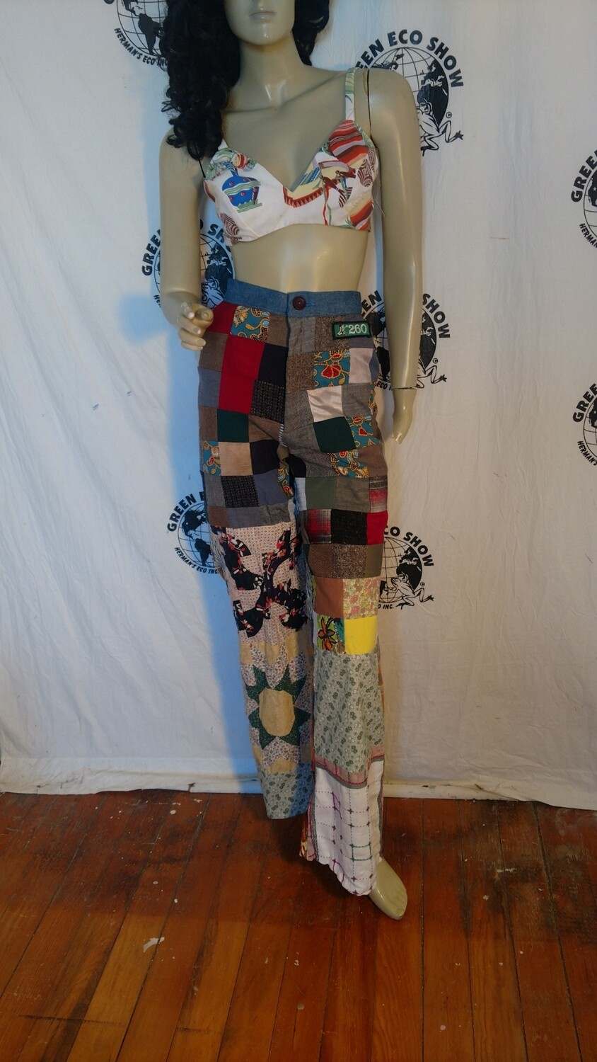 Womens patchwork pants S Hermans bells