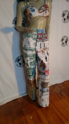 Calendar Pants Hermans Eco M repurposed
