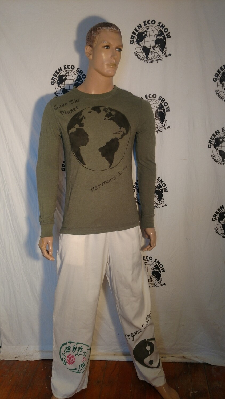 Hermans Hemp organic cotton earth t shirt Med