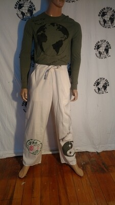 Hemans Eco organic cotton drawstring pants M airbrushed Graphics