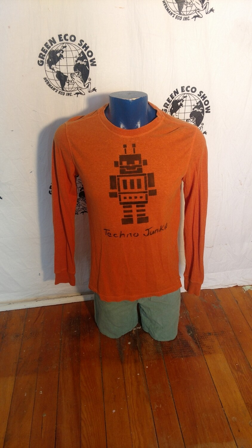 Hermans Hemp Robot T shirt M