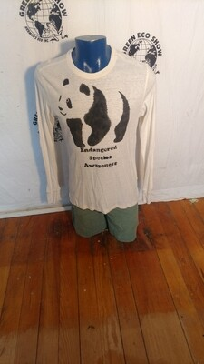 Hermans Hemp Endangered Panda Rhino T shirt