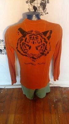 Hermans Hemp Butterfly Tiger Grafitti T shirt M