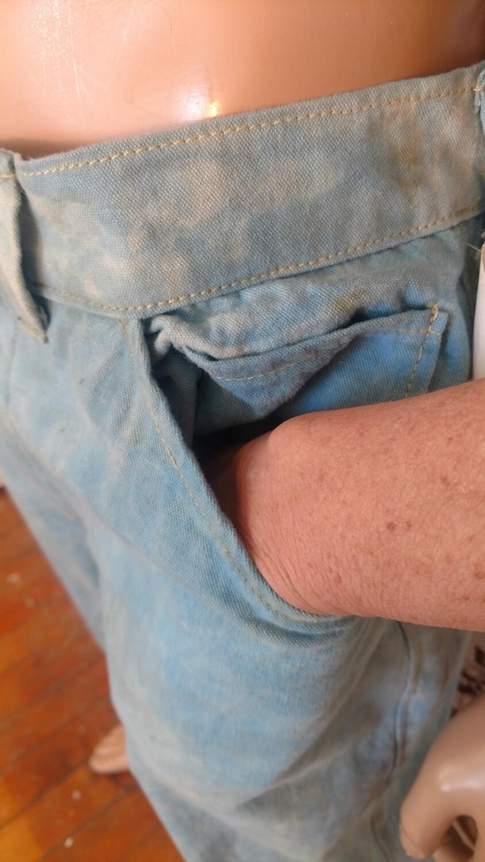 Hermans organic cotton indigo jeans 32 USA