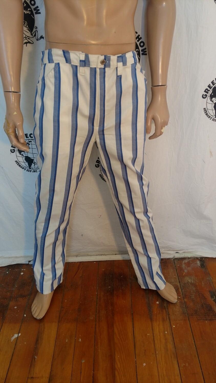 Mens striped jean 36 x 33 Hermans USA