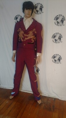 Griffin Castle suit 42 applique Rhinestone Anna Herman