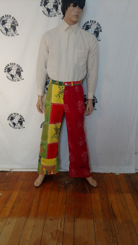 Mens patchwork pants Hermans Eco 34