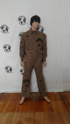 Mens jumpsuit L black man grafitti