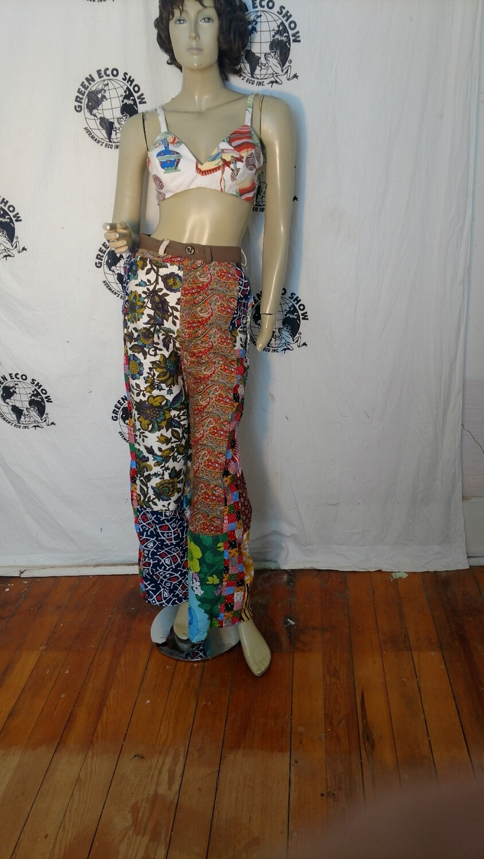 Womens patchwork pants 28 Hermans Eco
