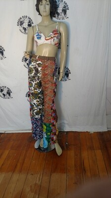 Womens patchwork pants 28 Hermans Eco