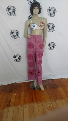 Pink kisses pants Hermans 28 M