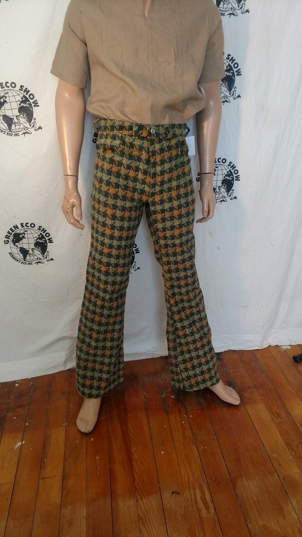 Mens plaid Corduroy bell jeans 33