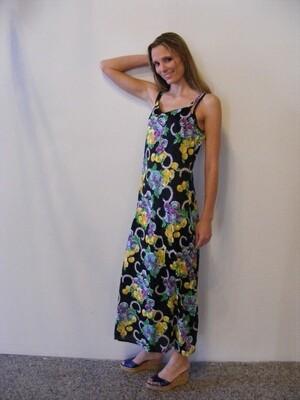 Black Flowered Evening  Gown Dress M  Hermans
