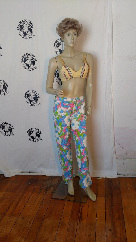 Flower Power Terry cloth pants sz M Hermans USA