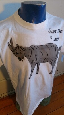 Goat t shirt L Hermans Eco Airbrushed