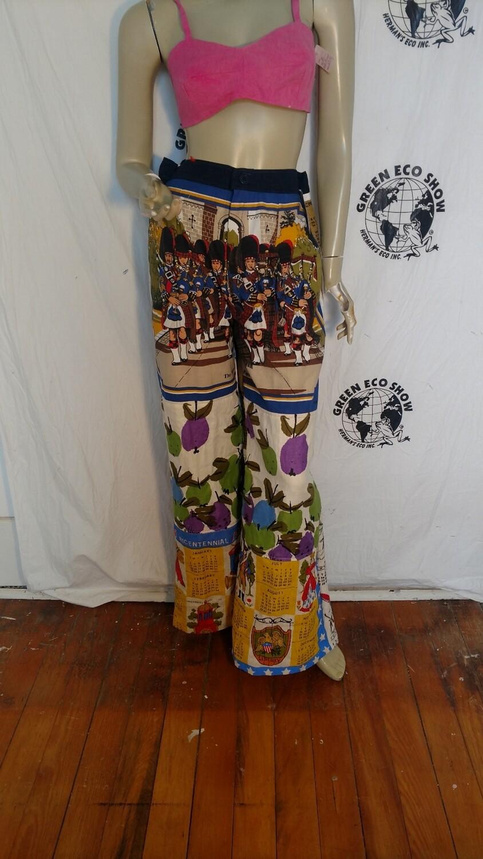 Calendar womens pants patchwork Hermans USA
