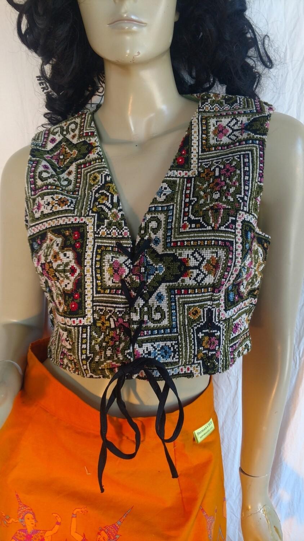 Womens Renaissance vest Princess Tapestry M